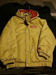 Vintage 90s San Francisco 49ers Parka Jacket Size L Starter Gold Niners