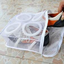Washing Shoes Mesh Net Air Bag Pouch Washing Machine Cleaner Laundry Bag Case LJ