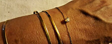 GOLD TONE & CZ  BRACELETS DAINTY AND CUTE NEW