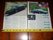 1991 SLP PONTIAC TRANS AM - ORIGINAL ARTICLE