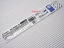 5 Refills for Pilot Hi-Tec-C Slim Knock 0.4mm Rollerball Gel Ink Pen, Blue