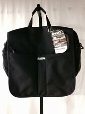 Swiss Gear Black Canvas Messenger Bag New Mesh Pockets Padded Strap