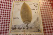 1902  la vie au grand air  271 aéronat jaune de LEBAUDY