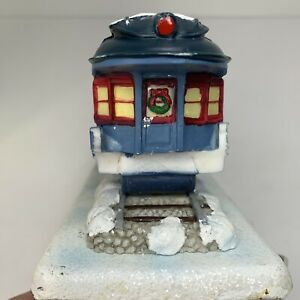 1 Polar Express Train Car With Photo Holder Stocking Hanger Holder 2004 Nice