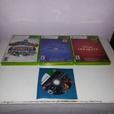 Lot of 4 XBox 360 Games: Disney Infinity 2.0 & 3.0/ Skylanders Giants/Lego Movie