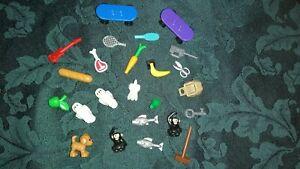 Lego minifigure accessories  bundle/ joblot pets animals food skateboard guitar