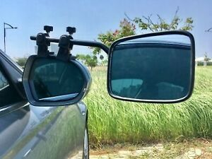 PAIR of Falcon Milenco Caravan Car Van Super Steady Rectangular Towing Mirrors