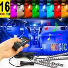 4PCS 48 LED Car Interior Atmosphere Neon Lights Strip Music Control + IR Remote <br/> 11000Sold✅16Color⭐Extra 20%OFF Buy4+✅60Day Free Return