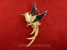 """Broche """"Phoenix"""" N° 2 dorée Oiseau de Feu Mythique - Bijoux Vintage Sphinx"""