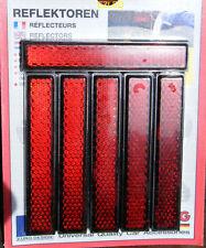 Red Reflectors Rectangular 6pcs set Diamond Cut Self Adhesive NEW
