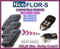 2 X NICE FLO2R-S Sender 2-Kanal FLOR-S handsender Remote control transmitter