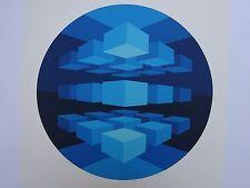 BRIAN HALSEY SUITE 6 MANDALAS 39/75 MID CENTURY MODERN OP ART 1977 ABSTRACT