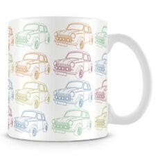 Mini Car Neon Line Pattern Repeat 8oz Mug Drinkware Gift Art Kitchen Bar 65103