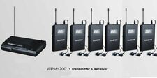 Takstar WPM-200 Stage Monitor System 1xTransmitter+6xReceivers Multiple Wireless