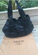 sac noir en cuir ABACO avec dustbag