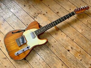 Telecaster butterscotch Heavy Relic Thinline HS Great Player Low Action