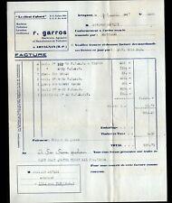 """ARTAGNAN (65) MARBRERIE / USINE de MATERIEL SANITAIRE """"R. GARROS"""" en 1937"""