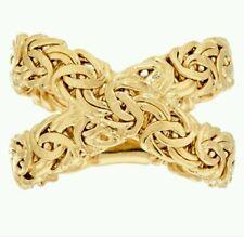 14K Gold Byzantine X-Design Ring
