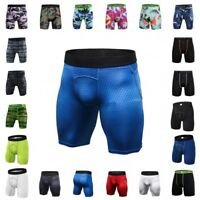 Men's Sports Gym Compression Underwear Base Layer Shorts Pants Athletic Tights