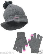 New Weatherproof Big Girl child Brimmed BeanieCap & Etip Glove 2 piece gift set