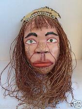 VINTAGE PERUVIAN FOLK ART MAN  WOODEN  MASK RARE!!