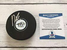 PK Subban Signed Autographed Nashvillve Predators Hockey Puck Beckett BAS COA a