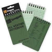 Pack of 3: Snugpak Small 3x5 All-Weather Notebooks/Pads Write in Rain Paper