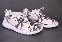 SB598 NIKE Roshe Run Damen Sneaker Sportschuhe Gr. 38 weiß schwarz Canvas Palmen