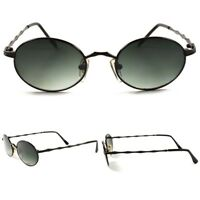 Oval Round Classic Genuine Vintage 80s Hipster Mens Womens Hippie Sunglasses