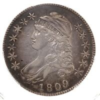 1809 Capped Bust 50C PCGS Certified VF35 XXX Edge