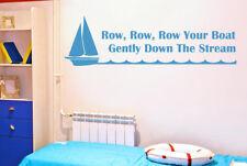 Row Your Boat Gently Down Stream Vinilo Pegatinas De Pared Adhesivo Decoración