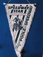 Vintage Speedway Pennant - Speedway Star Pairs Championship - 1987 - Poole