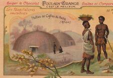 chromo poulain les habitations primitives, n°11. huttes de cafres du natal