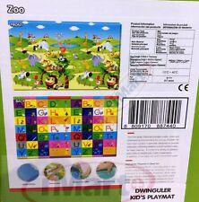 Dwinguler Kid's Playmat baby rug kids floor mat Zoo Alphabet Made in Korean New