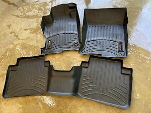 Set of WeatherTech Front & Rear Floor Liners Mats Black For Honda Accord Sedan