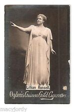 Ogden's Guinea Gold Tobacco Card - Lillian Russell with Raised Arm