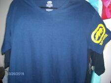 ECKO UNLTD - V-Neck Logo On Sleeve Navy T-Shirt ~Size M ~ MSRP $20.00