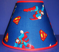 Superman on Blue Lampshade Handmade Lamp Shade
