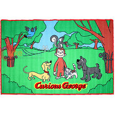 """Curious George Carpet Accent Mat Area Rug 39""""x58"""" - Friends in the Park"""