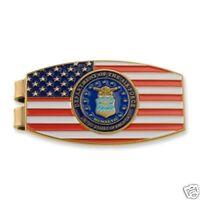 AIR FORCE FLAG LOGO USAF MILITARY MONEY CLIP