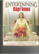 ENTERTAINING WITH THE SOPRANOS CARMELA ITALIAN COOKBOOK W/ PHOTOS OUT OF PRINT