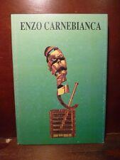 Arte catalogo mostra Enzo Carnebianca 1994 bronzo oro tecnica testi D. Bellezza