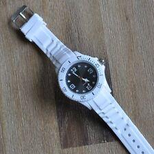 Silicona Reloj De Pulsera Goma blanco 12 Colores Esfera Deporte M2