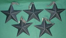 """Hearthside Collection 5"""" Black Metal Accent Stars Set of 5 NEW Primitive Country"""