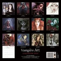 Vampire Art 2015 12x12 Calendar Flame Tree Publishing Gothic Drawings ~ NEW ~