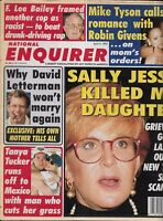 National Enquirer Tabloid Magazine Sally Jessy Raphael Mike Tyson Tanya Tucker