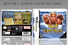 """NINTENDO DS : AGE OF EMPIRES 2. UNOFFICIAL COVER. ORIGINAL BOX. """"NO GAME""""."""