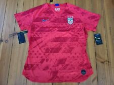 Nike Women Usa National Soccer Team Short Sleeve Jersey Shirt Xl Red Slim Fit
