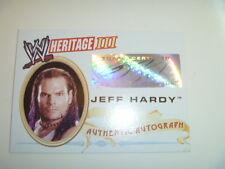 WWE AUTOGRAPH  RARE TOPPS HERITAGE 3 AUTO JEFF HARDY