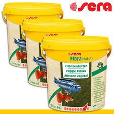 Sera flora naturaleza 10l comida vegetal espirulina para peces agua dulce 2kg